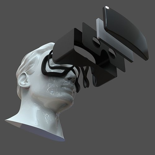 cad male head model m2p1d0v1head and vr headset template 3d model obj mtl fbx stl 3dm dwg sldprt sldasm slddrw 1