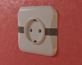 3D model electric outlet