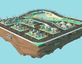 3D model Roads of the future Set