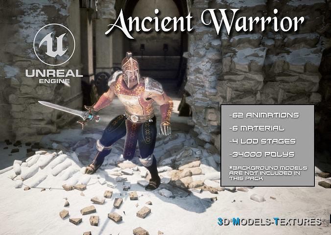 Ancient Warrior for UNREAL | 3D model