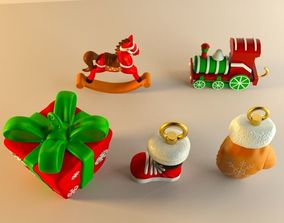 Set of Christams decorations 3D print model