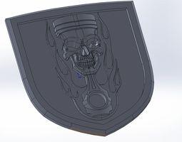3D print model emblem dodge