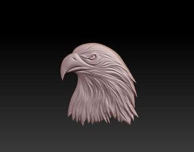 badge 3D eagle head