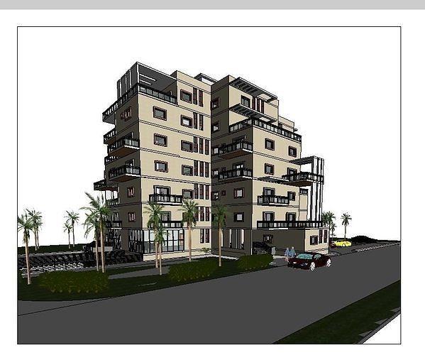 residential commercial building 3d model rfa rvt 1