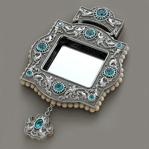 jewelry orthodoxy panagia 3d model obj mtl stl 3dm 1