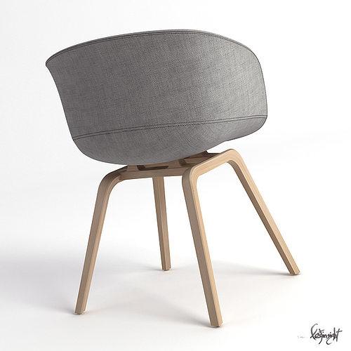 aac22 chair 3d model max. Black Bedroom Furniture Sets. Home Design Ideas