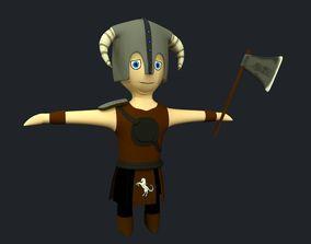 3D asset Cartoon Viking