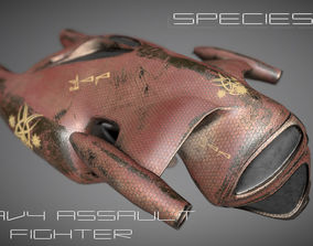 Species I - Alien Heavy Assault Fighter 3D model