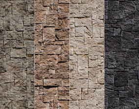 brick Stone Walls Material 3 3D model