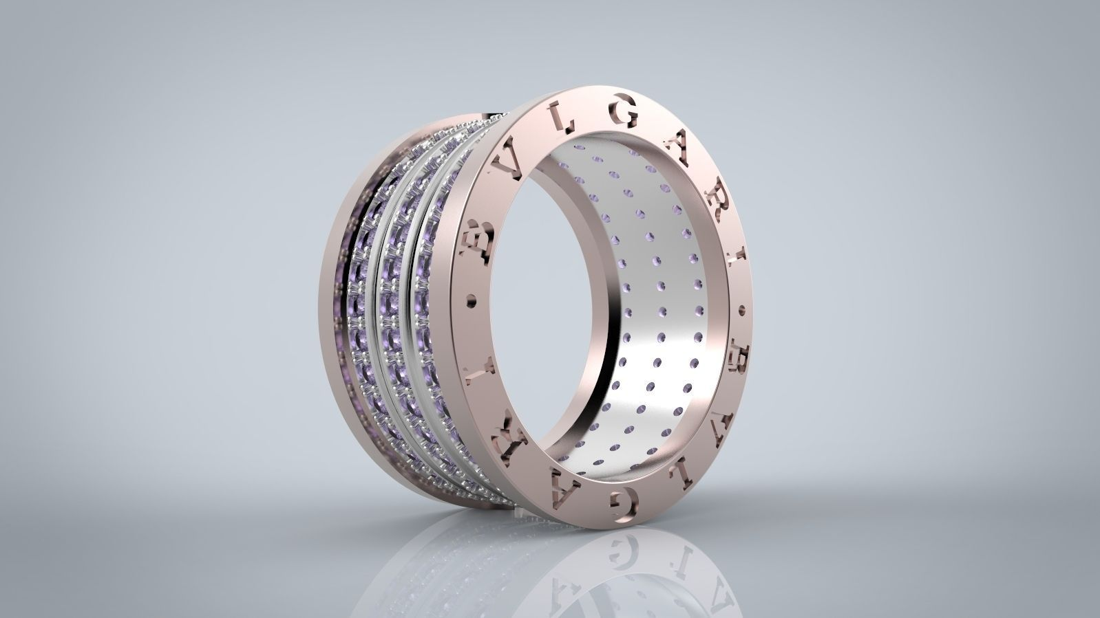 ring bvlgari 3d model stl 3dm 2