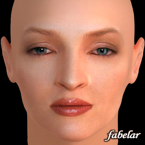 uma thurman 3d model max 1