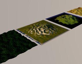 4 landscapes 3D
