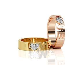 Love Ring Band R BA 0006 3D printable model