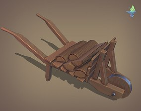 3D model PBR Wheel Barrow