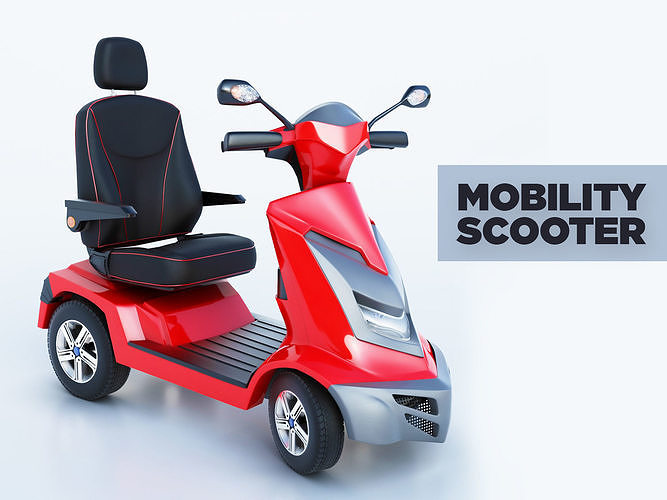 royale mobility scooter 3d model max fbx 1
