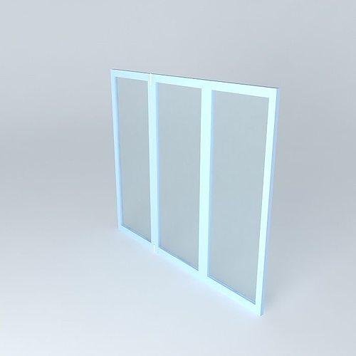 slides window 3d model max obj 3ds fbx stl dae 1