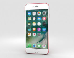 3D Apple iPhone 7 Red
