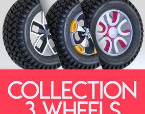 vehicle 3D Wheel tire rim