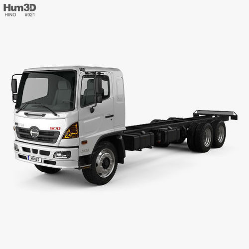 3d Hino 500 Fc Lwb Chassis Truck 2016 Cgtrader
