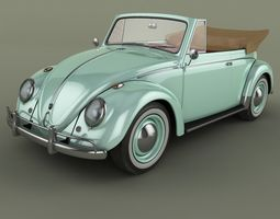 3d model volkswagen beetle  cabrio