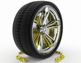 ORTAS CAR WHEEL RIM 101 GAME READY WHEEL RIM TIRE 3D