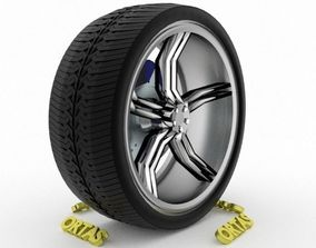 3D ORTAS CAR WHEEL RIM 137 GAME READY WHEEL RIM TIRE