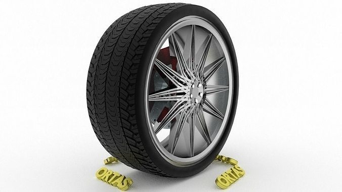 ortas car wheel rim 123 game ready wheel rim tire 3d model obj mtl fbx  blend ...