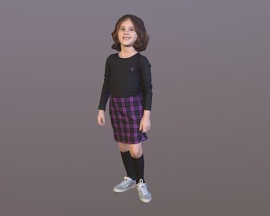 no151 - girl standing 3d model obj mtl stl 1