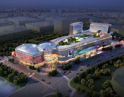 city shopping mall 106 3d model