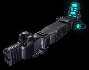 3D asset game-ready robot Spaceship