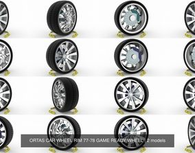 ORTAS CAR WHEEL RIM 77-78 GAME READY WHEEL 3D