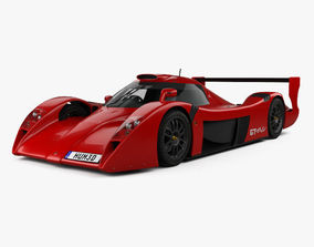 3D Toyota GT-One Road Car 1999