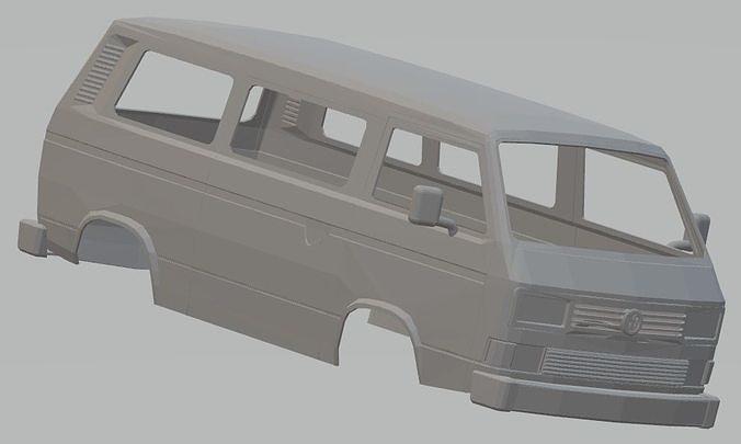 volkswagen transporter t3 printable body van 3d model max stl 1