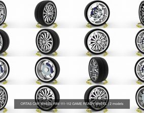 3D ORTAS CAR WHEEL RIM 111-112 GAME READY WHEEL