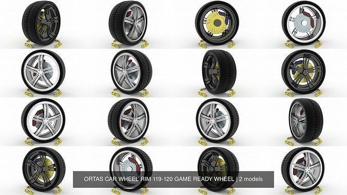 ortas car wheel rim 119-120 game ready wheel 3d model obj mtl fbx blend 1