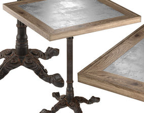 Restaurant Table Square Metal Sheet 3D model