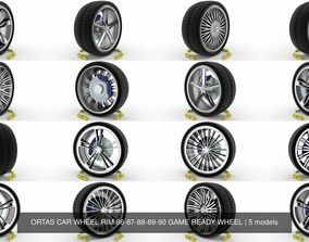 3D ORTAS CAR WHEEL RIM 86-87-88-89-90 GAME READY WHEEL
