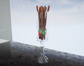 Vase with cinnamon sticks Norvedem 3D model