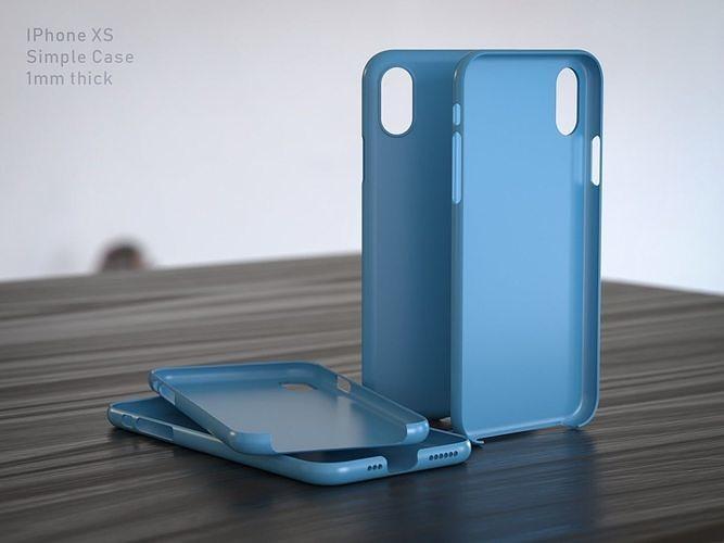 iphone xs case 3d model obj mtl fbx stl 1
