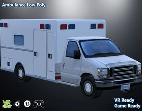 Ambulance Van Low Poly 3D model