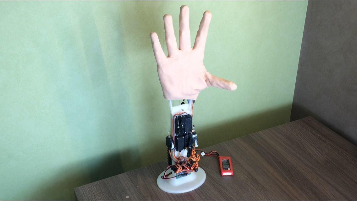 robot hand - bionic hand prosthesis prototype