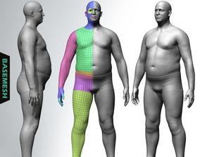 Overweight Male Basemesh 3D model