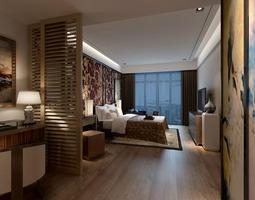 3d model cozy romantic bedroom