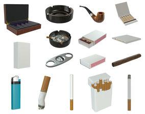 3D model PBR Smoking stuff