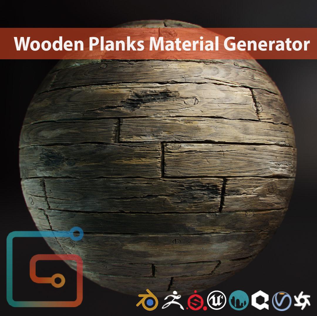 Wooden Planks Material Generator