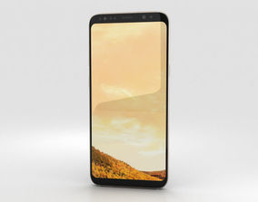 3D Samsung Galaxy S8 Plus Maple Gold mobile