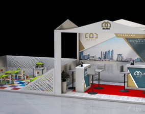 Real estate exhibition stand 3D constraction