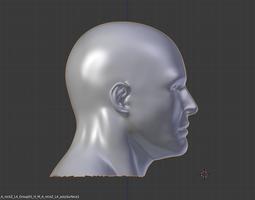 3D human man head demo