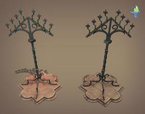 3D model Gothic Candelabra