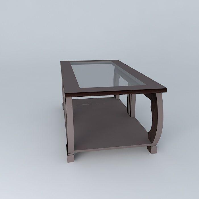 ... Coffee Table Art Deco Maisons Du Monde 3d Model Max Obj Mtl 3ds Fbx Stl  Dae ...
